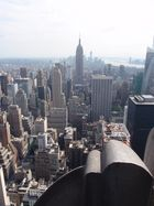 Blick von Top of the Rock Richtung Empire State Building