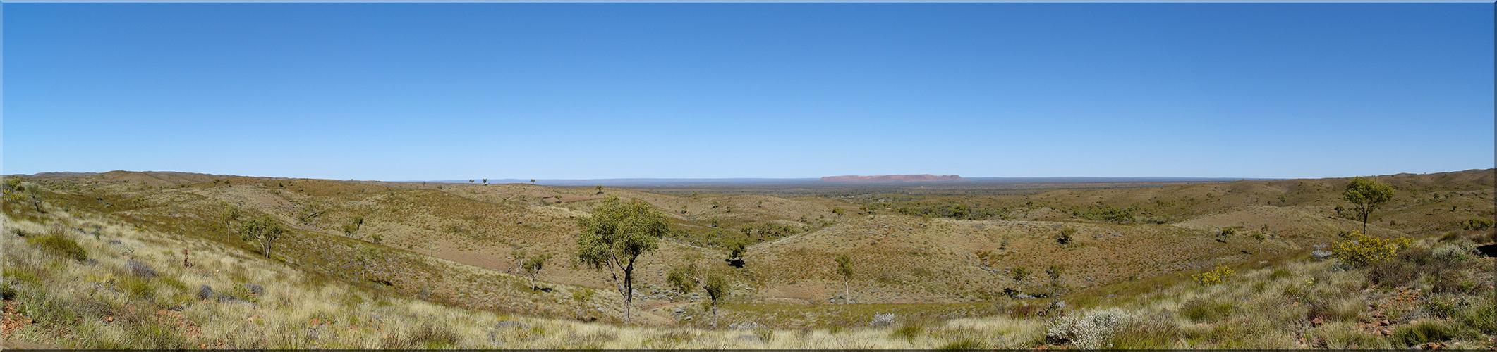 Blick von Tyler´s Pass auf Tnorala (Gosse Bluff)