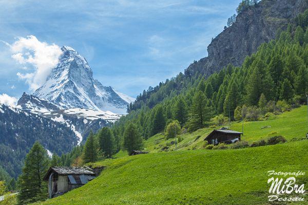 Blick von Zermatt zum Matterhorn 2015