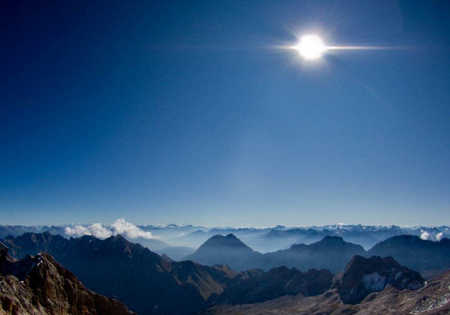 Blick Zugspitze