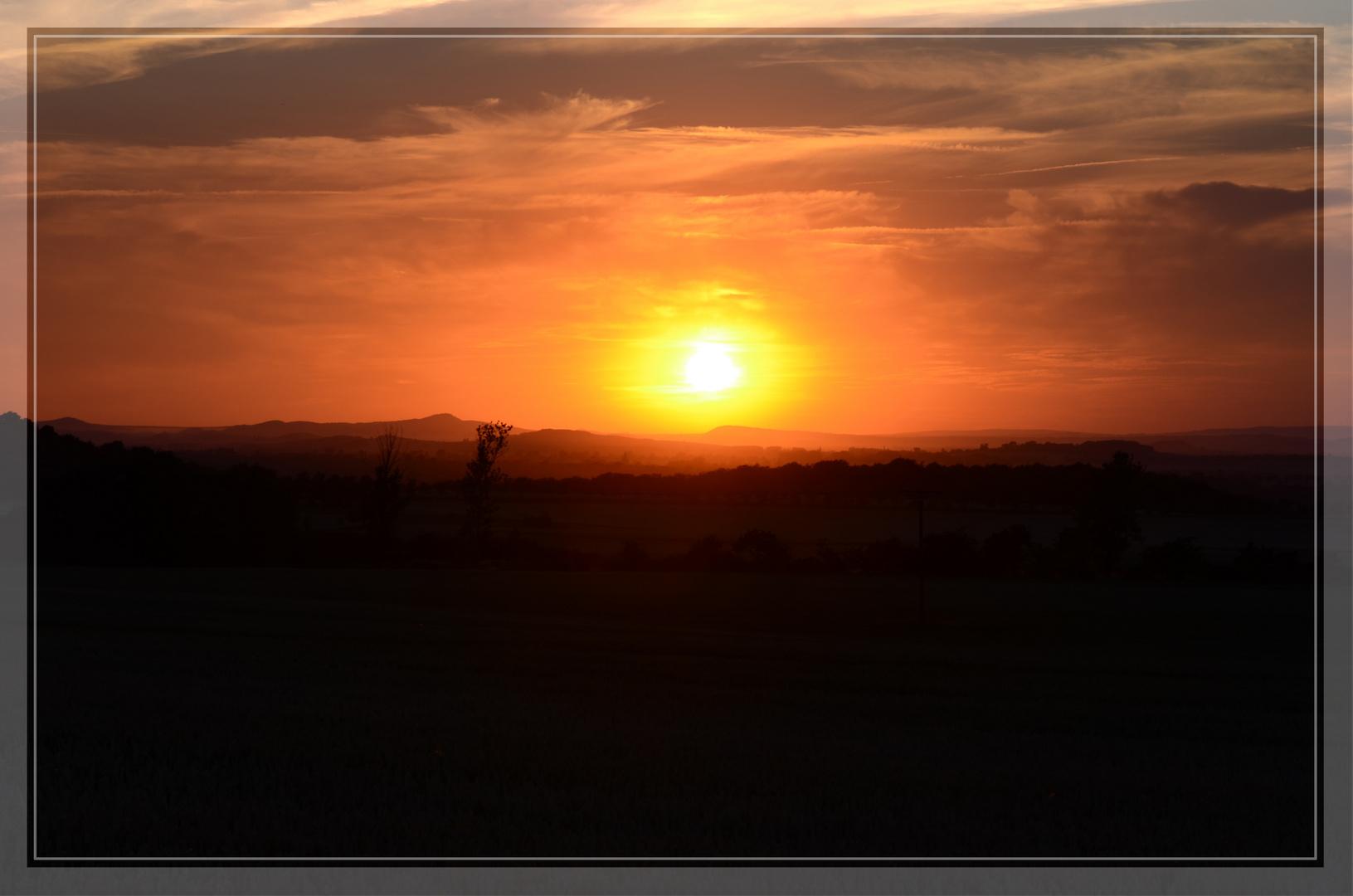 Blick zum Brocken / Sonnenuntergang