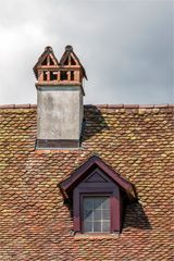 Blick zum Dach am Kloster - St. Petersinsel
