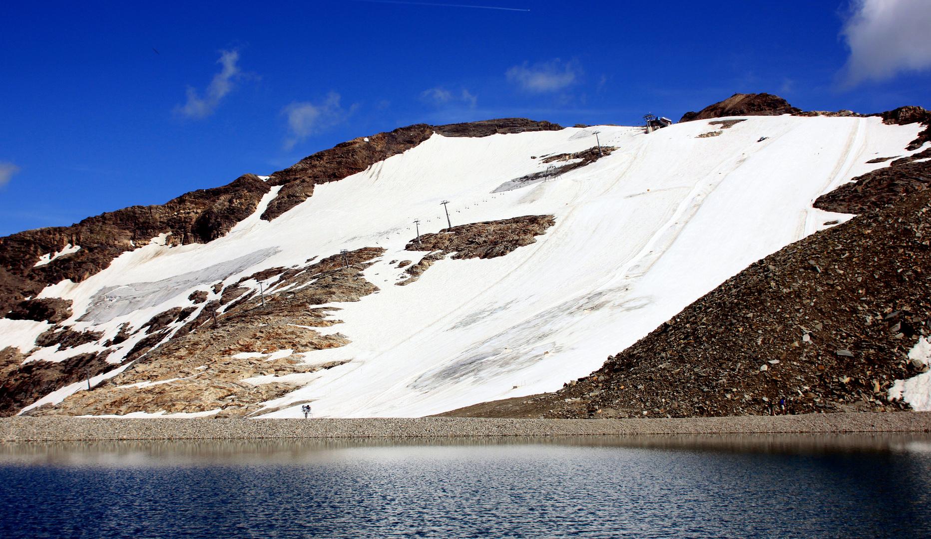 - Blick zum Gipfel-