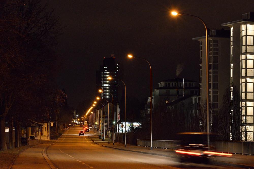 """Blick zum """"Langen Egon"""" (Rathaus) in Lörrach"""