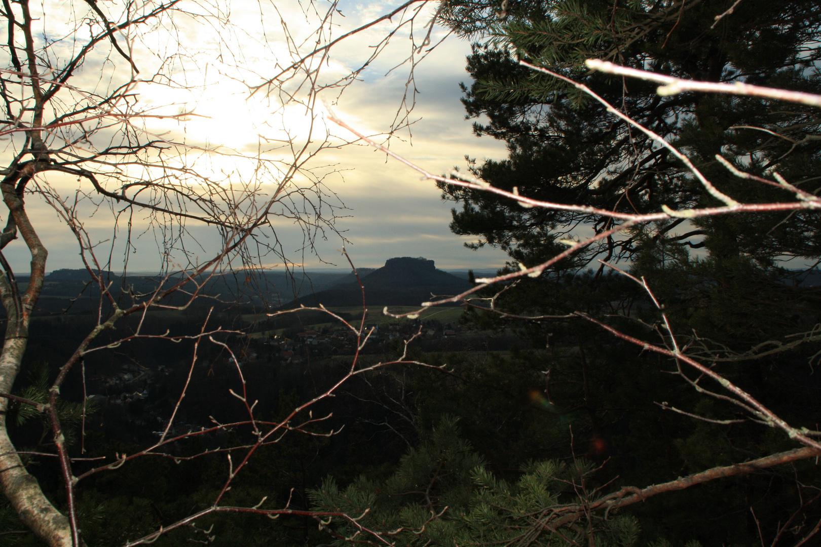 Blick zum Lilienstein Sächsische Schweiz