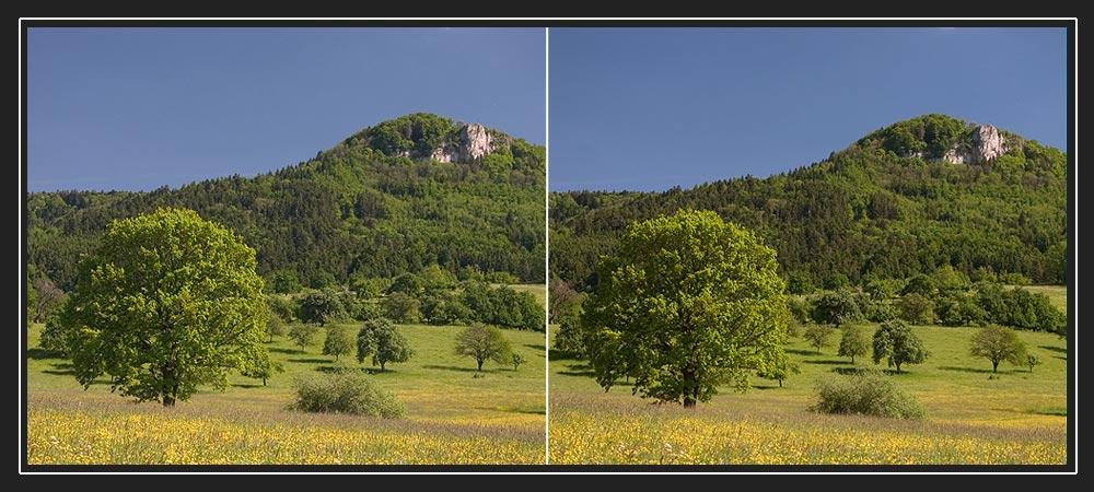 Blick zum Lochenstein (schwäbische Alb)
