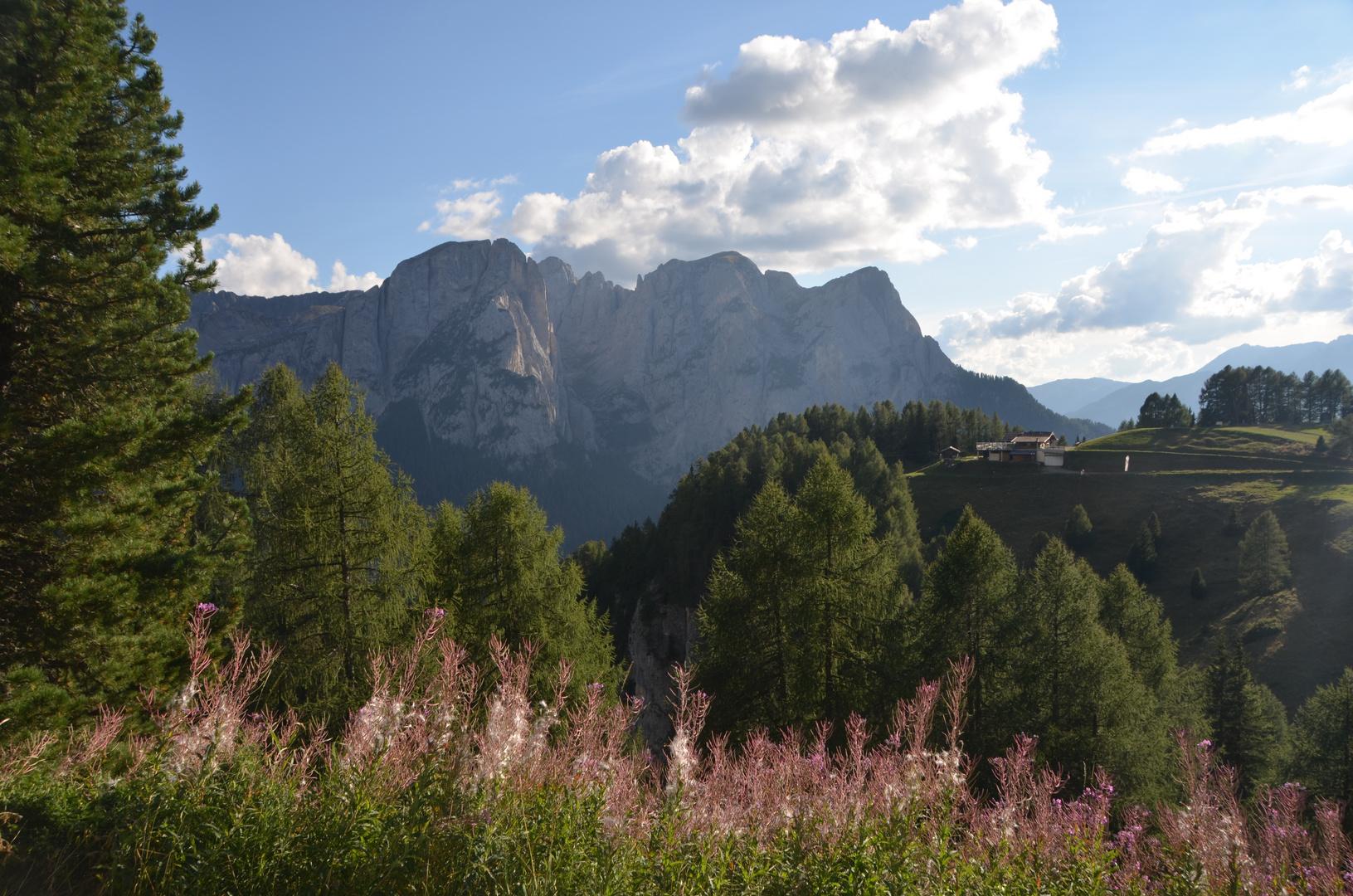 Blick zum Rifugio Alpino Buffaure