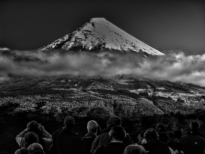 blick zum vulkan osorno ...
