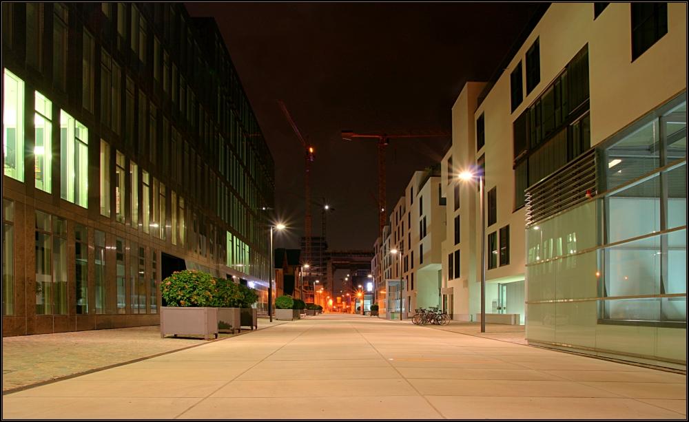 Blick zur Baustelle des neuen Kranhauses in Köln - reload