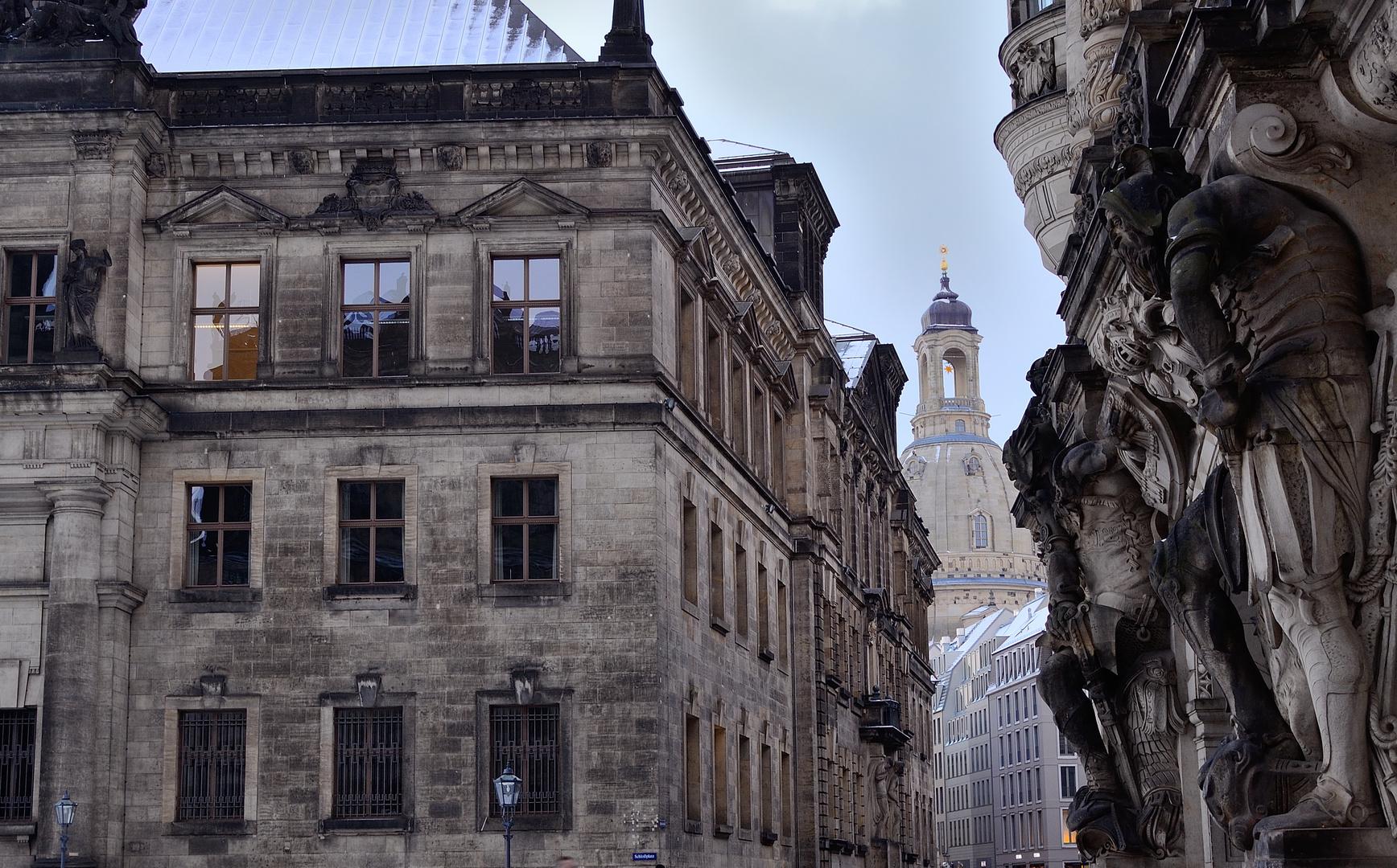 Blick zur Frauenkirche