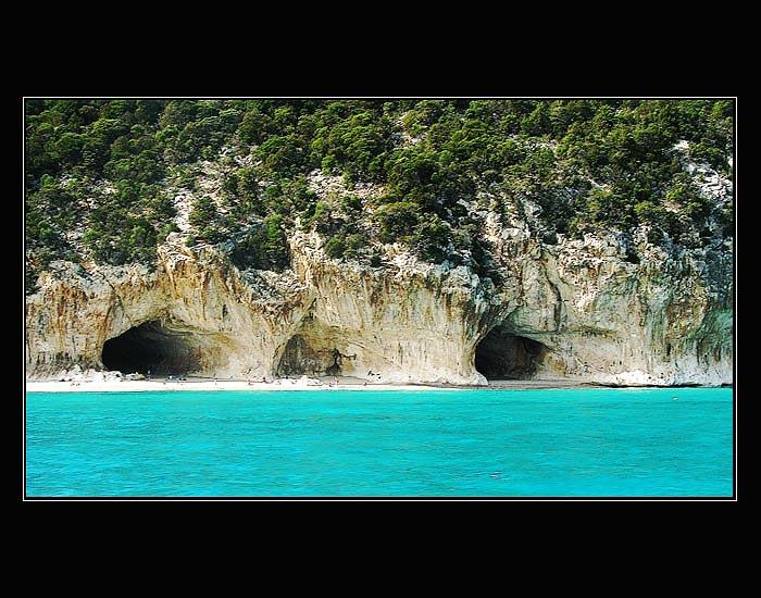 Blick zur Grotta del Bue Marino