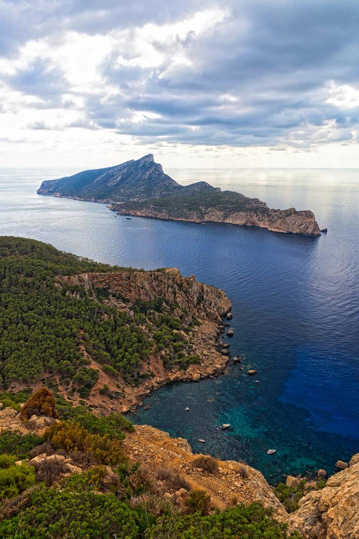 Blick zur Insel Dragonera