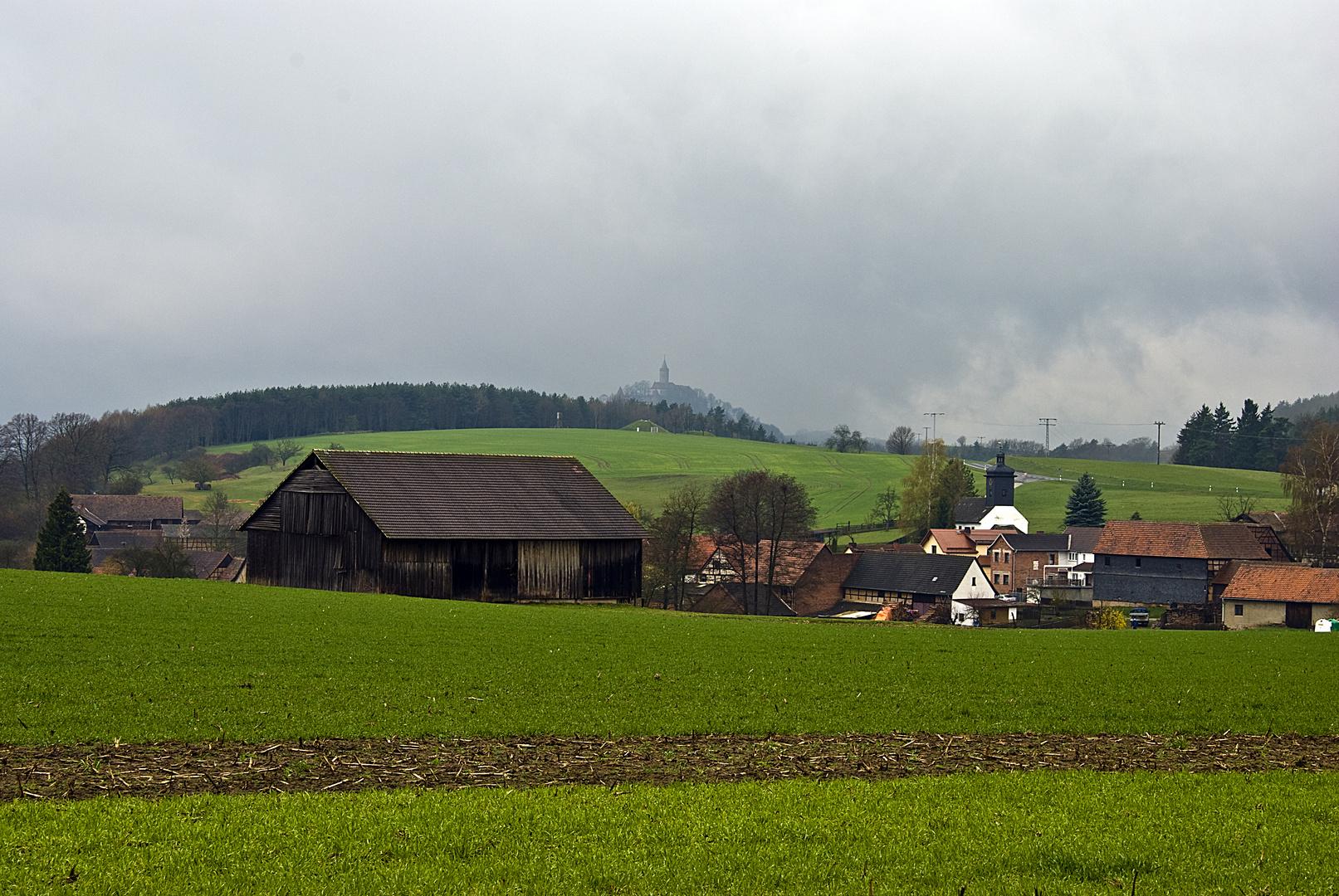 Blick zur Leuchtenburg