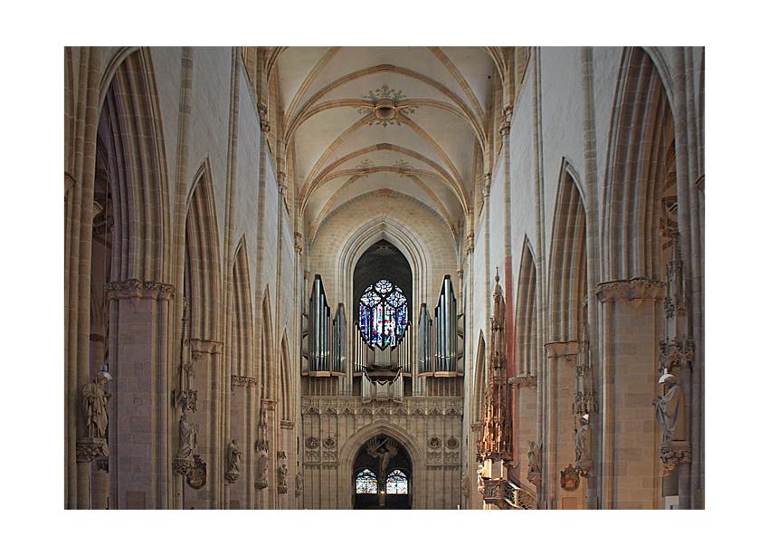 Blick zur Orgel - Ulmer Münster