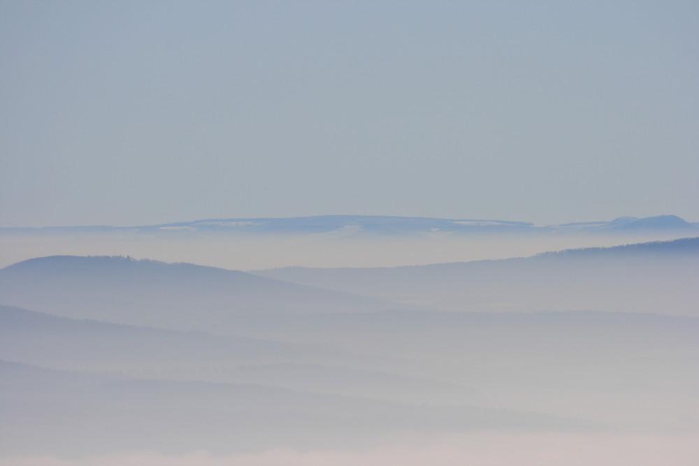 Blick zur Rhön ca. 100Km