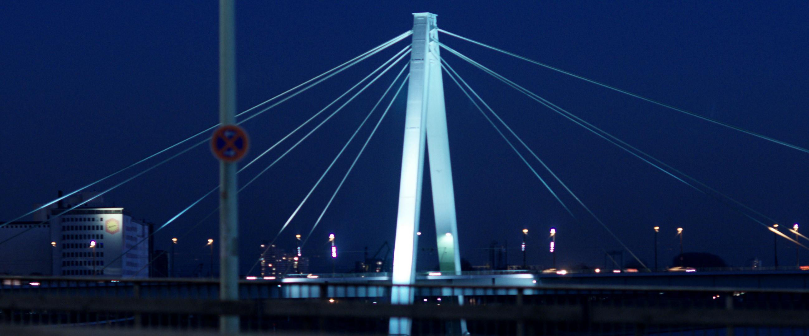 Blick zur Severinsbrücke