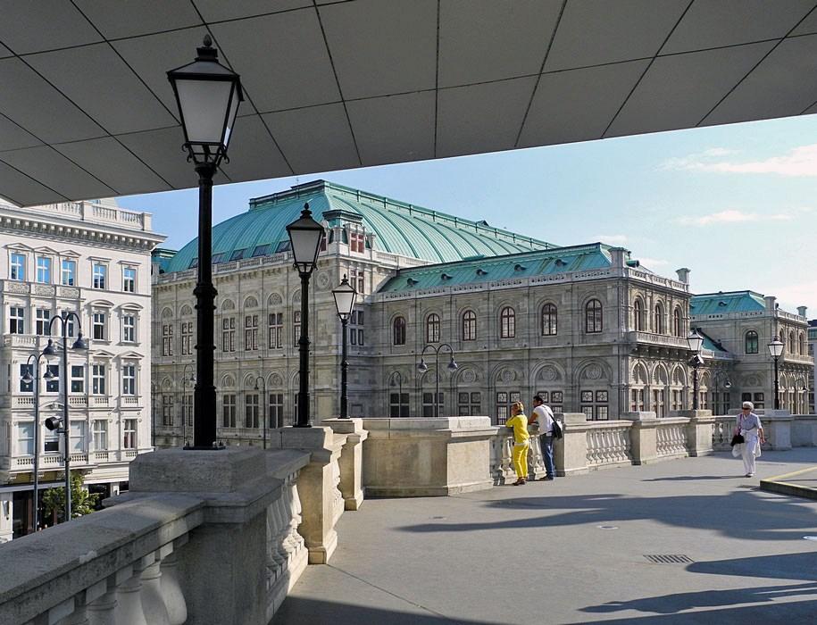Blick zur Wiener Staatsoper