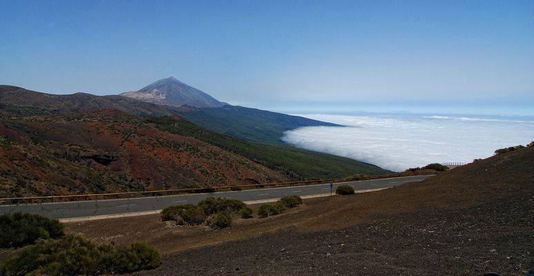 Blick zurück auf Pico del Teide