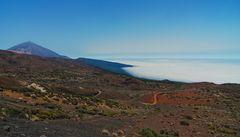 Blick zurück auf Pico del Teide - jetzt ohne Straße :-)