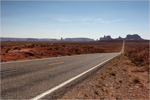 Blick zurück zum Monument Valley