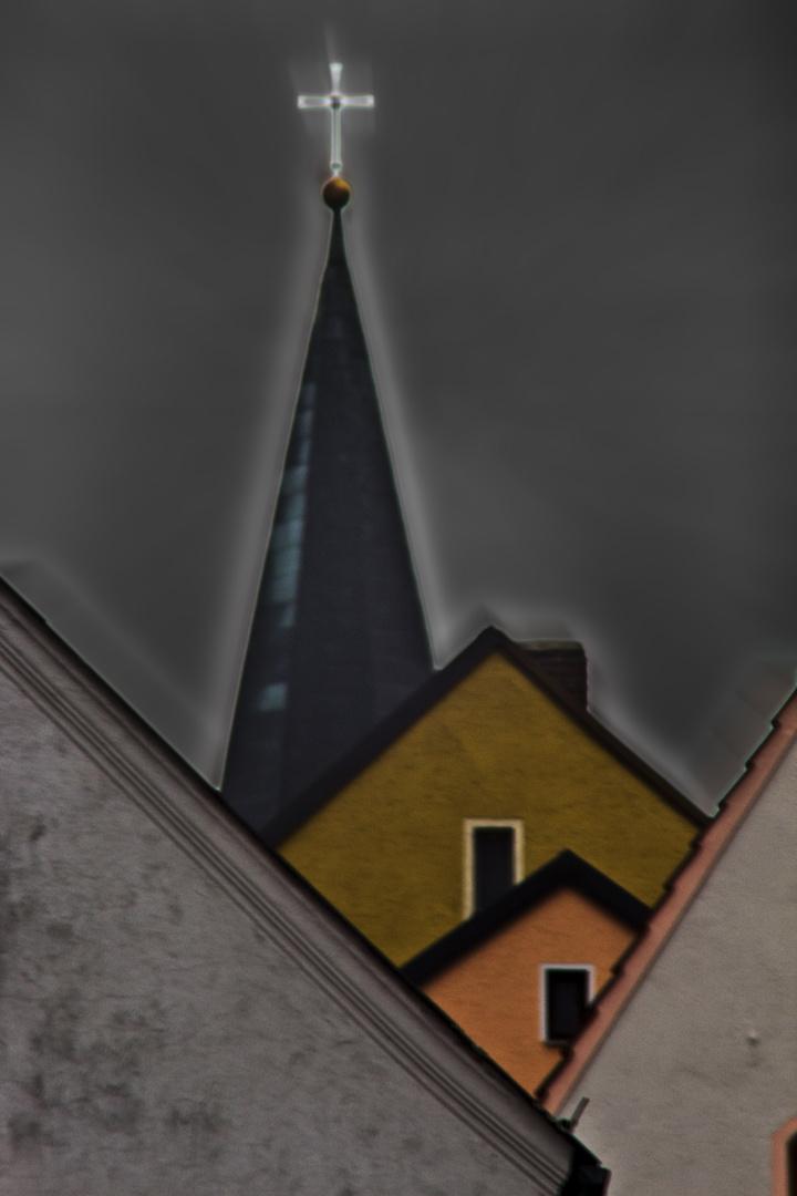 Blick zwischen die Dächer