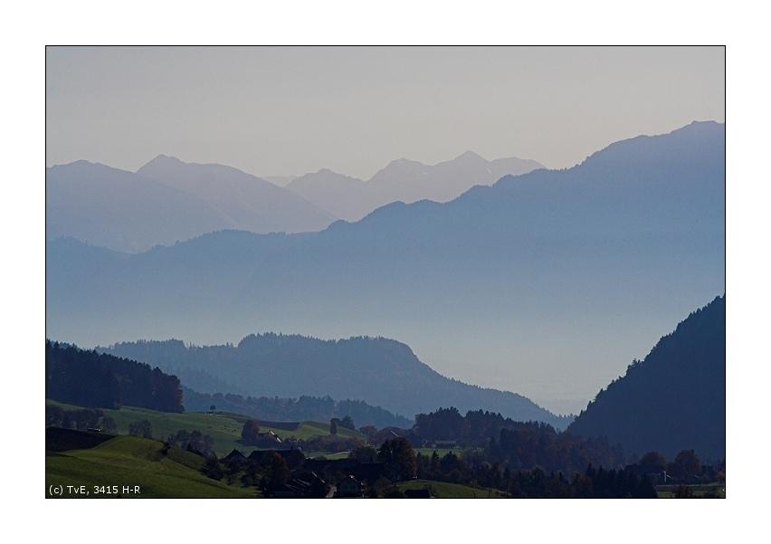 Blickrichtung Berner Oberland
