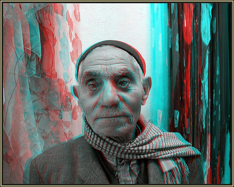 blind man - 3 D - Ananglyphe