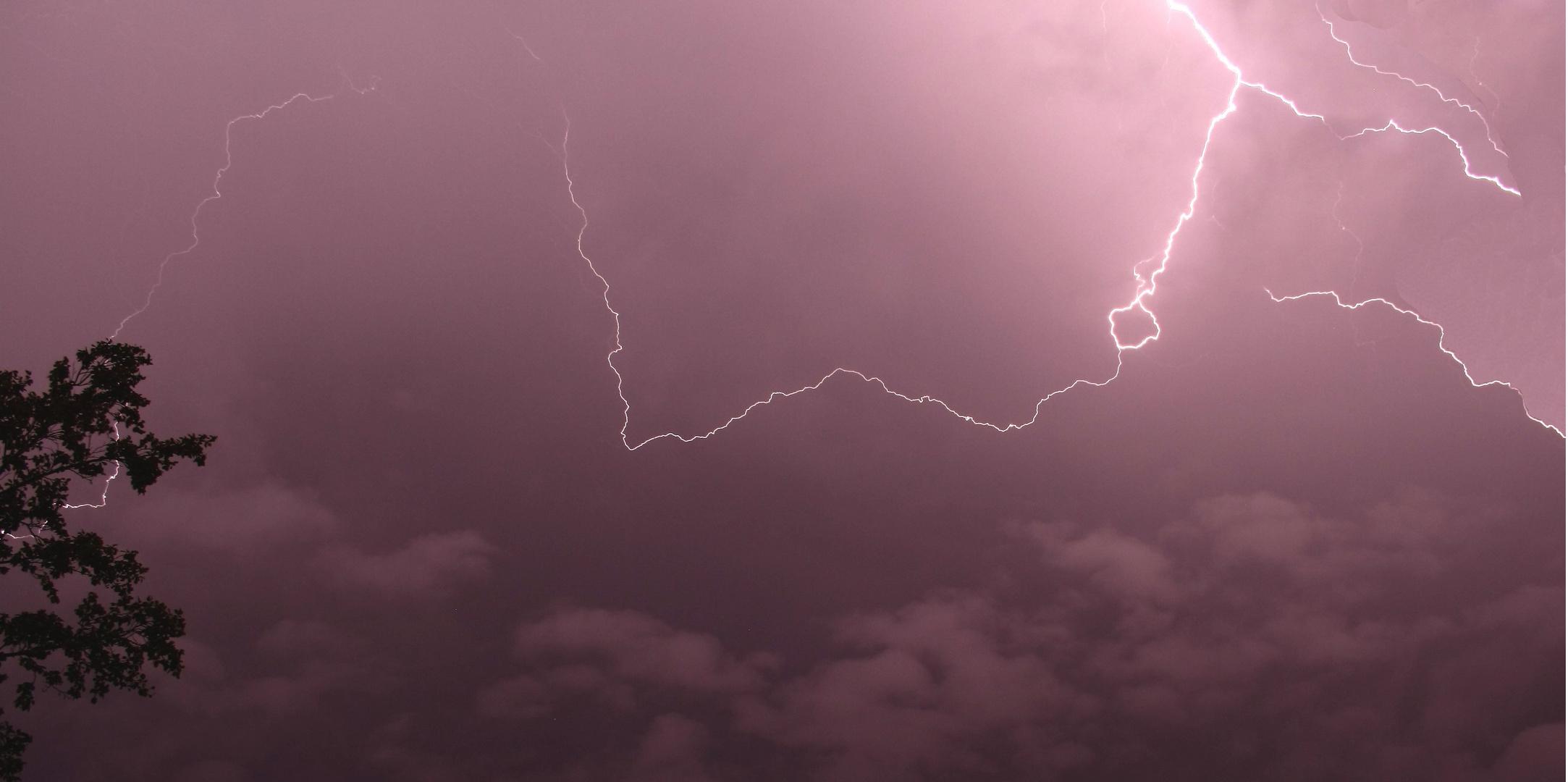 Blitz beim Unwetter 2011 in Deutschland