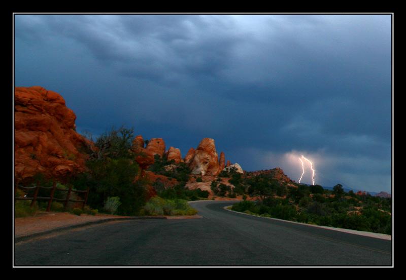 Blitz im Arches Park