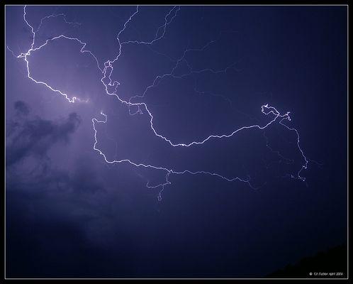 Blitz intensives Bisen- Gewitter vom Montag den 20. April 2009 (2/3)