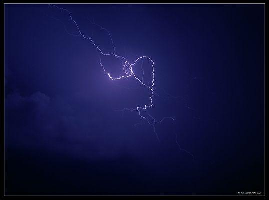 Blitz intensives Bisen- Gewitter vom Montag den 20. April 2009 (3/3)