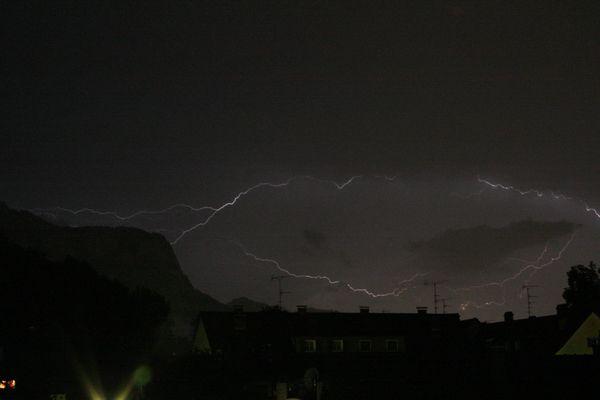 Blitz über Dornbirn