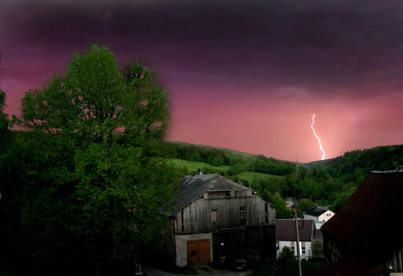 Blitz über Jöhstadt