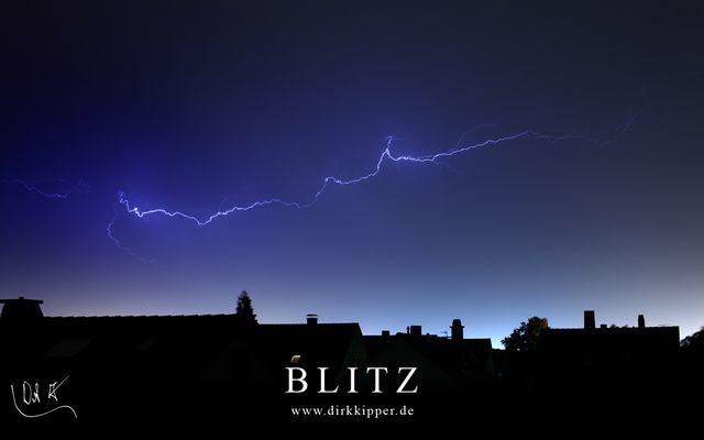 Blitz über Walldorf