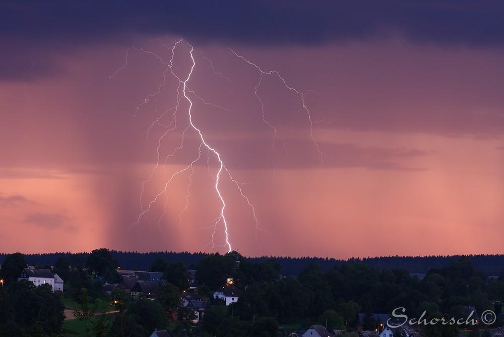 Blitz und Donnerwetter