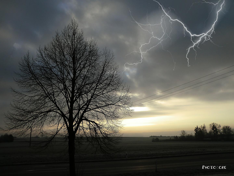 Blitze am Morgen