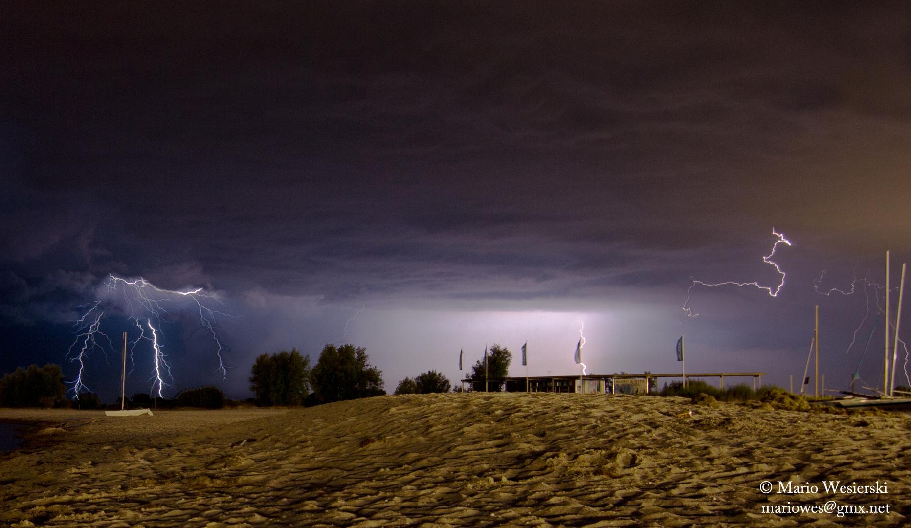 Blitze am Strand