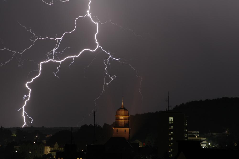 ...Blitze über Arnsberg...
