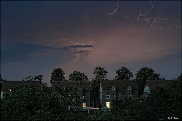 Blitze über Gladbeck