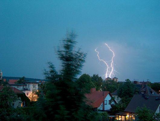 Blitze über Naumburg