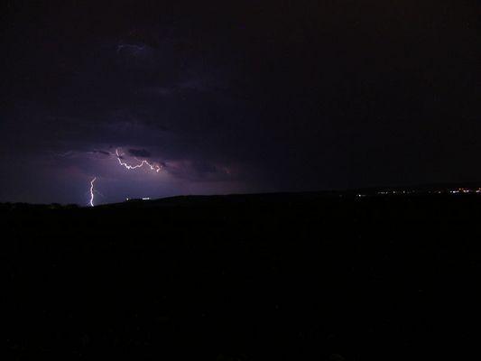 Blitze über Neuhof/kr.Fulda