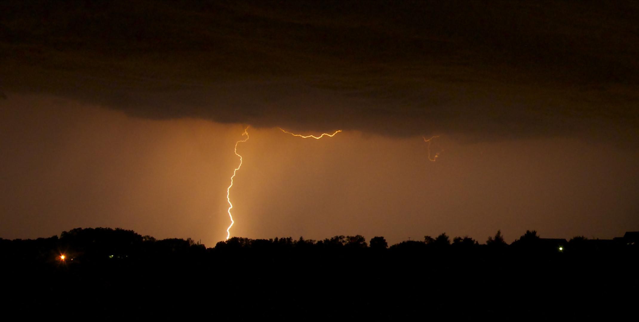 Blitze über Siegelsbach