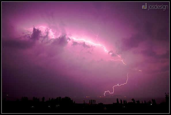 Blitzgewitter über dem Balaton