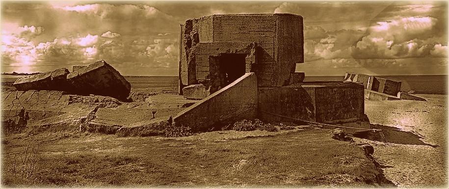 Blockhaus sur la côte normande
