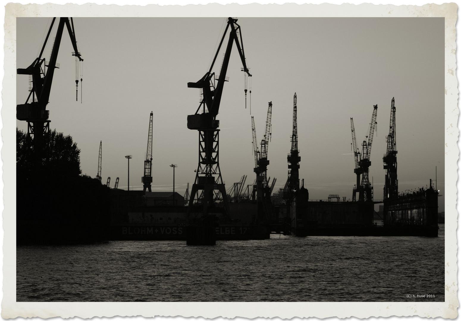 Blohm + Voss Schiffswerft in Hamburg