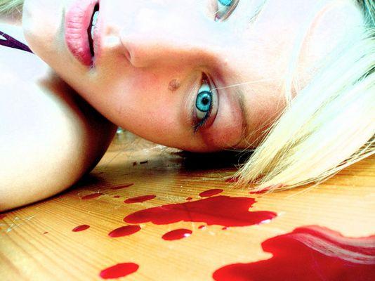 blood on the floor to my feet-i walk on blood
