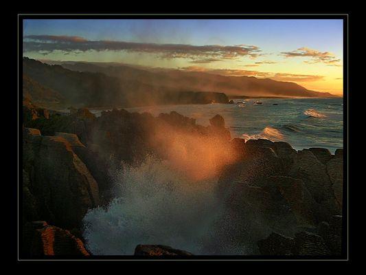 Blowholes - Punakaiki Rocks