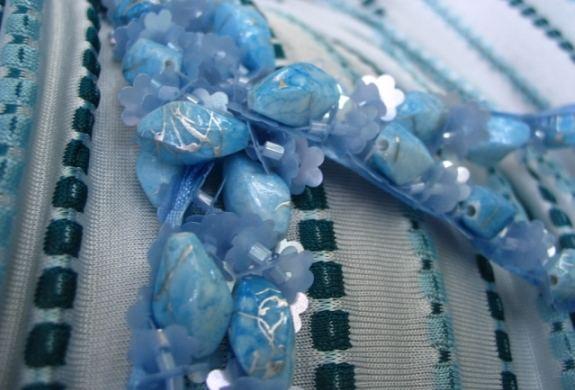 Blue accessory for blue dress