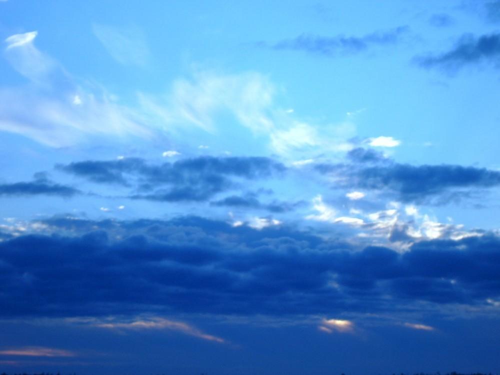 Blue clouds!