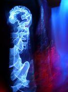 Blue ghost in jail dancing